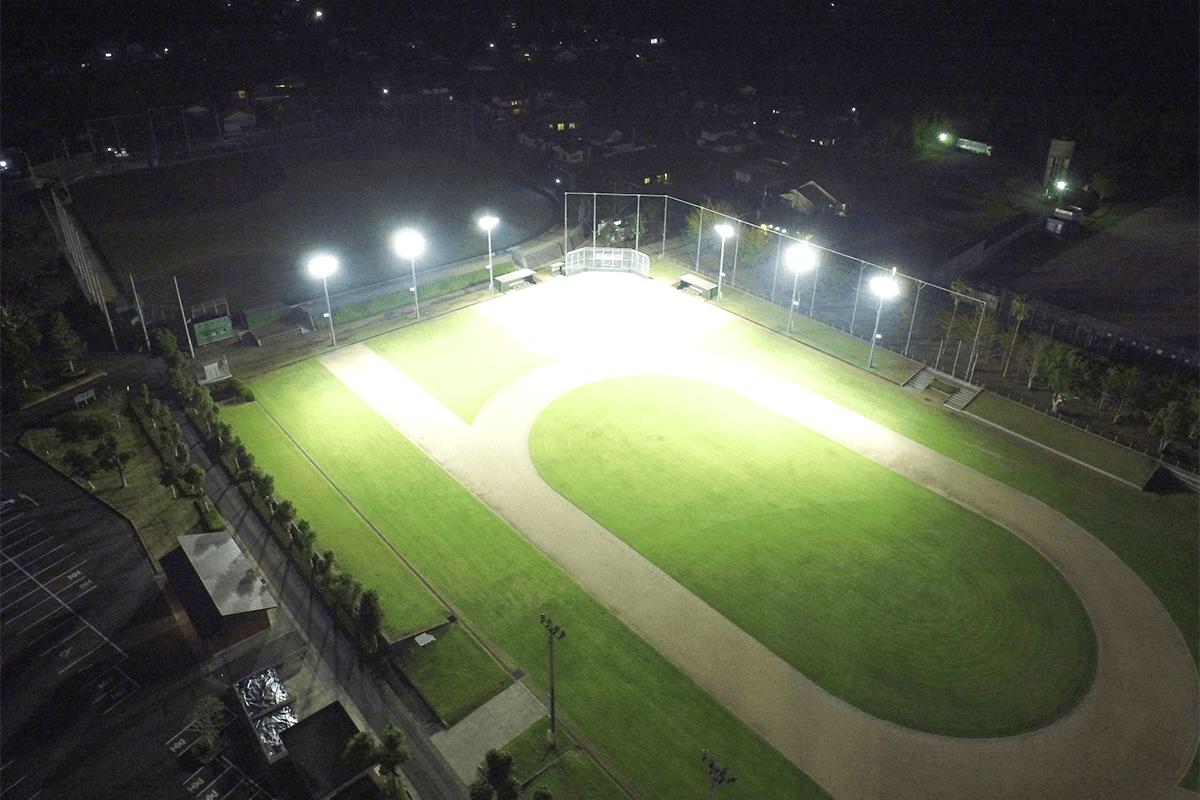 平和公園陸上競技場ナイター照明工事